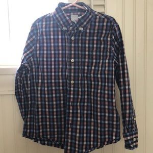J Crew Crewcuts Size 6-7 Button Down Shirt